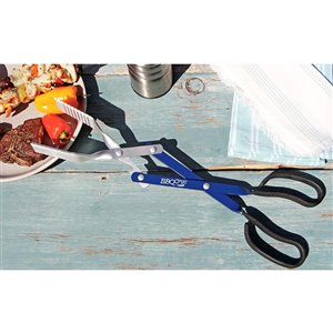BBQ Croc 3 in 1 Barbecue Tool, 18 In. in Blue