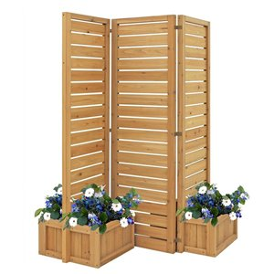 66-in x 19-in Natural Wooden Outdoor Privacy Screen
