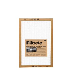 3M 16-in x 20-in x 1-in 100 MRP Basic Pleated Air Filter
