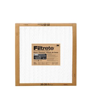 3M 20-in x 20-in x 1-in 100 MRP Basic Pleated Air Filter