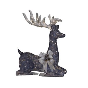 SYLVANIA 42-in LED Outdoor Midnight Blue Seated Deer