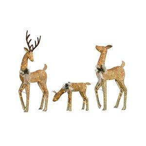 3-Pack Incandescent Deer Family