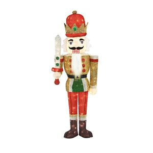 4.5-ft Incandescent Outdoor Tinsel Nutcracker