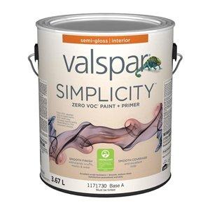 Valspar Simplicity Semi-gloss Latex Interior Paint (Actual Net Contents:124)