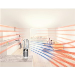 Dyson Pure Hot+Cool™ HEPA Air Purifier and fan heater White 10-Speed 300 HEPA Air Purifiers