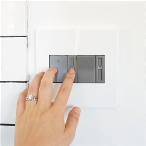 Legrand adorne 2-Gang Square Wall Plate (Gloss White)