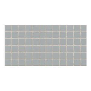 American Olean Satinglo 12-in x 12-in Light Smoke Ceramic Mosaic Wall Tile