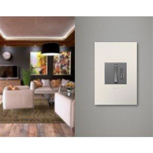 Legrand adorne 1-Gang Square Satin Wall Plate (Light Almond)