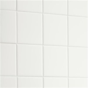 American Olean 4-in x 4-in Starting Line 1 White Gloss Ceramic Wall Tile