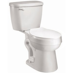 Project Source White High Efficiency WaterSense 2-Piece Round Toilet (1.28 GPF)