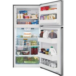 Frigidaire 13.9-cu ft Top-Freezer Refrigerator (Brushed Steel) ENERGY STAR