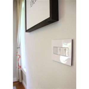 Legrand adorne 3-Gang Square Wall Plate (Gloss White)