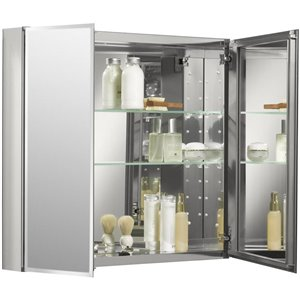 KOHLER 30-in x 26-in Rectangle Recessed Medicine Cabinet with Mirror