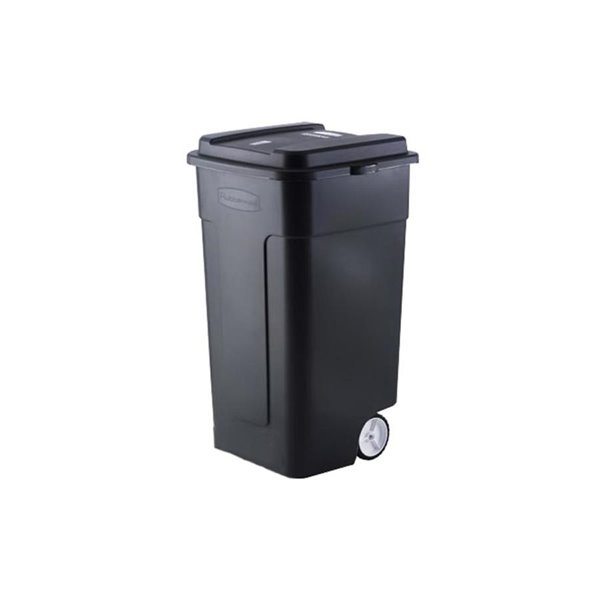 Rubbermaid Fg285100 189l, Rubbermaid Outdoor Trash Can With Lid