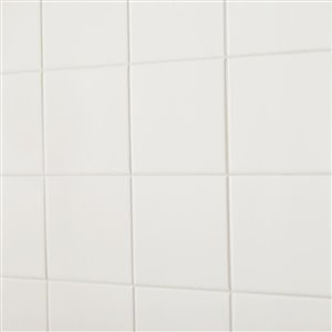 American Olean 6-in x 6-in Starting Line 1 White Gloss Ceramic Wall Tile