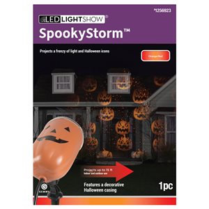 Gemmy El's-spookystorm-jol Orange/Red