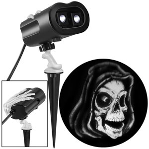 Gemmy LightShow Grimmotion Reaper Projection Light