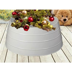 24-in White Christmas Tree Stand Collar
