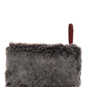 Holiday Living 22-in Dark Red with Faux Fur Cuff Christmas Stocking