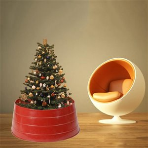 24-in Red Christmas Tree Stand Collar | Lowe's Canada