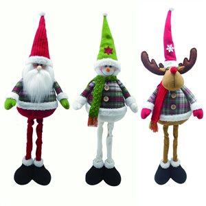Holiday Living Santa, Snowman, or Reindeer Plush Decoration (Assorted)