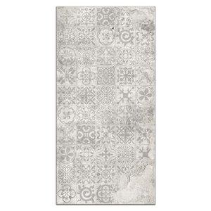 MURdesign 48-in x 8-ft Smooth Grey Mosaic Birch MDF Wall Panel