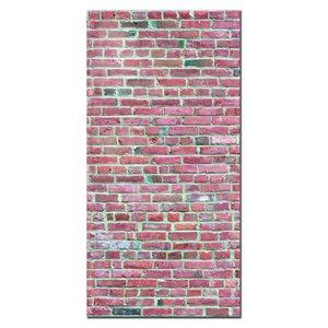 MURdesign 48-in x 8-ft Smooth Reddish Brick Birch MDF Wall Panel
