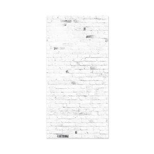 MURdesign 48-in x 8-ft Smooth Bleached Grey Brick Birch MDF Wall Panel