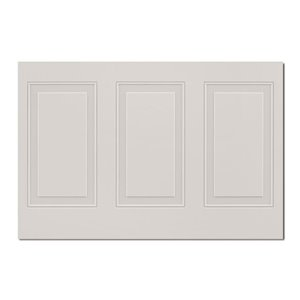 MURdesign 48-in x 2.5-ft Embossed Painted White Birch MDF Wainscot Wall Panel