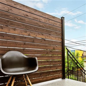 HOFT Solutions 72-in x 72-in Black Aluminum End Post Kit DIY Outdoor Privacy Screen