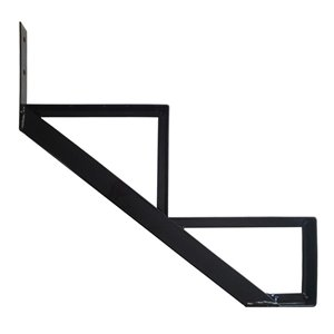 Pylex Collection 11 2-Steps Aluminum Stair Riser Black- 7-1/2 In. x 10-1/4 In.