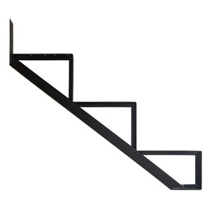 Pylex Collection 11 3-Steps Aluminum Stair Riser Black- 7-1/2 In. x 10-1/4 In.
