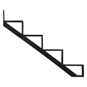 Pylex Collection 11 4-Steps Aluminum Stair Riser Black- 7-1/2 In. x 10-1/4 In.