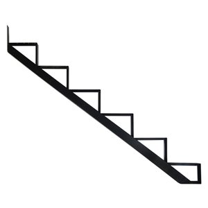 Pylex Collection 11 6-Steps Aluminum Stair Riser Black- 7-1/2 In. x 10-1/4 In.
