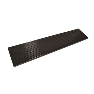 Pylex Collection 11 Aluminum Stair Tread Black- 42 in x 11 in