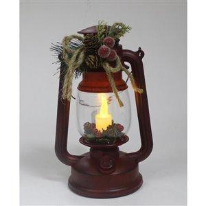 Holiday Living Red Xmas Oil Lantern