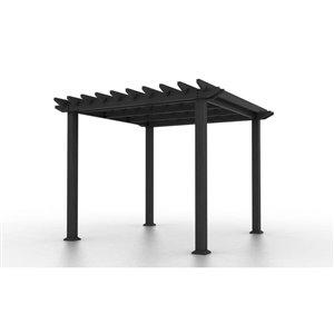 Leadvision ELEGANCE PLUS 120.0 W x 120.0 L x 132.0 H GRAY Freestanding Pergola Freestanding