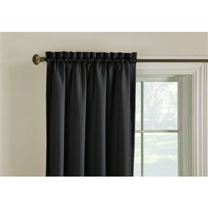 Style Selections Walker 63-in Thermal Rod Pocket Single Curtain Panel