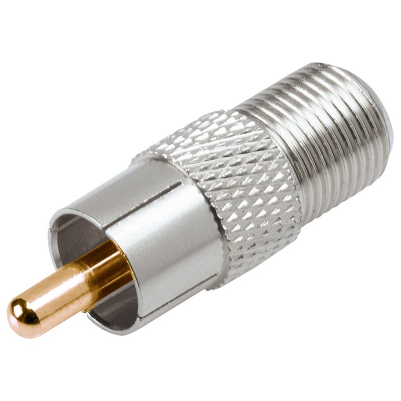 RCA Screw On Coax Cable Connectors (2-Pack)