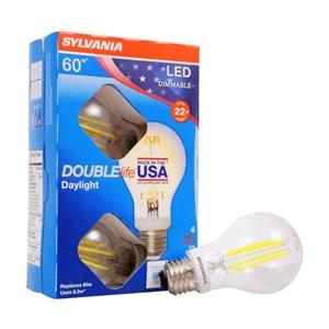 SYLVANIA LED A19 6.5W Dimmable Bulb 4-Pk