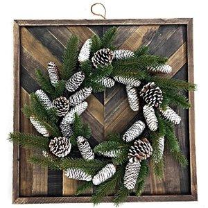 Holiday Living Vintage Frame Wreath Decor (1)