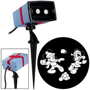 Disney Disney Mickey and Minnie Snowball Animated Scene Light Projector