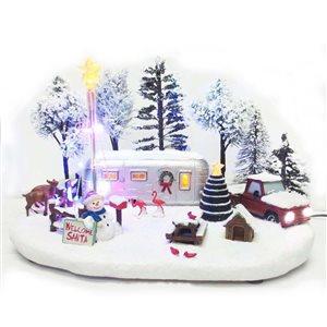 Carole Towne LED Winter Christmas Trailer
