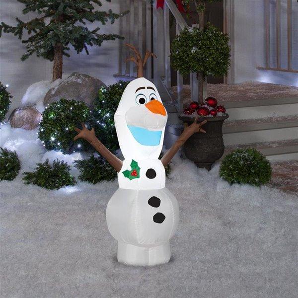 Olaf Christmas Trees.Gemmy 4 Ft Olaf Christmas Inflatable