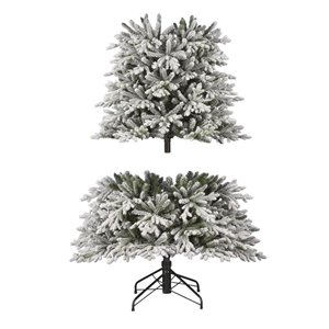 Holiday Living 7.5-ft Norway Spruce Flocked Incandescent Artificial Christmas Tree