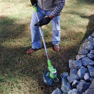 Greenworks 12-in 24V Straight Shaft Brushless Cordless String Trimmer and Edger