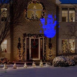 Gemmy Snowman LED Blue Light Projector