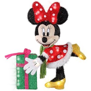 28-in White Incandescent Tinsel Minnie Mouse