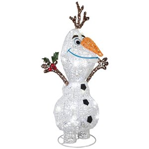 21.5-in Cool White LED Tinsel Olaf
