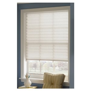 48-in W x 72-in L White Light Filtering Cordless Paper Pleated Shade